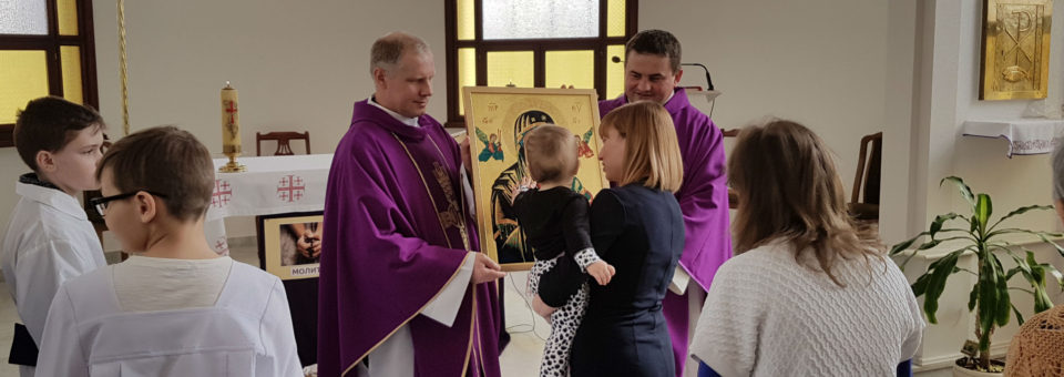 Icon of Our Lady of Perpetual Help visits our parishes in Russia and Kazakhstan