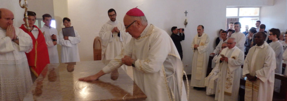 The consecration of the church of Saint Alphonsus in Albania